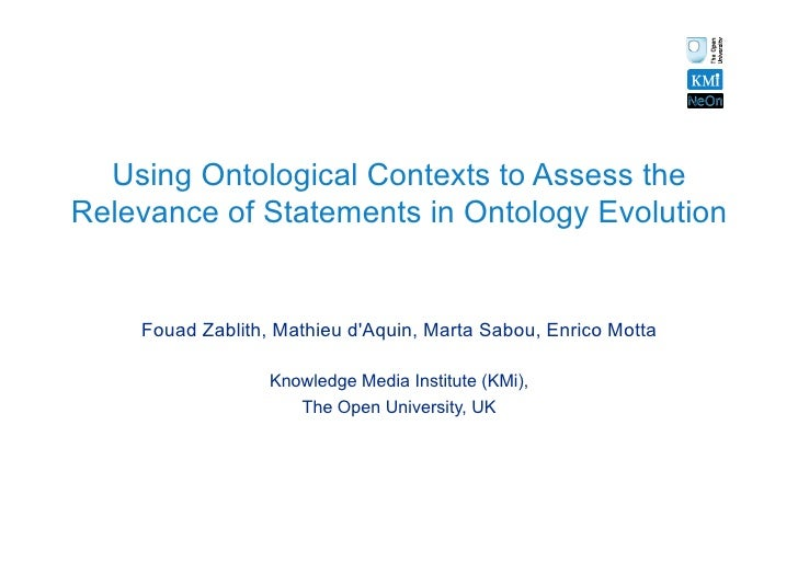 Using Ontological Contexts to Assess the Relevance of Statements in Ontol…