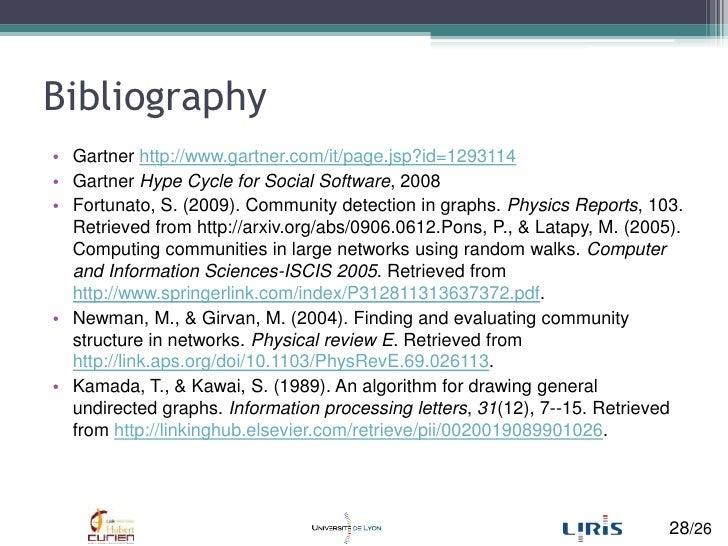 Bibliography<br />Gartner http://www.gartner.com/it/page.jsp?id=1293114<br />Gartner Hype Cycle for Social Software, 2008<...