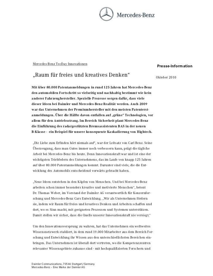 Mercedes-Benz TecDay Innovationen                                                                                    Press...