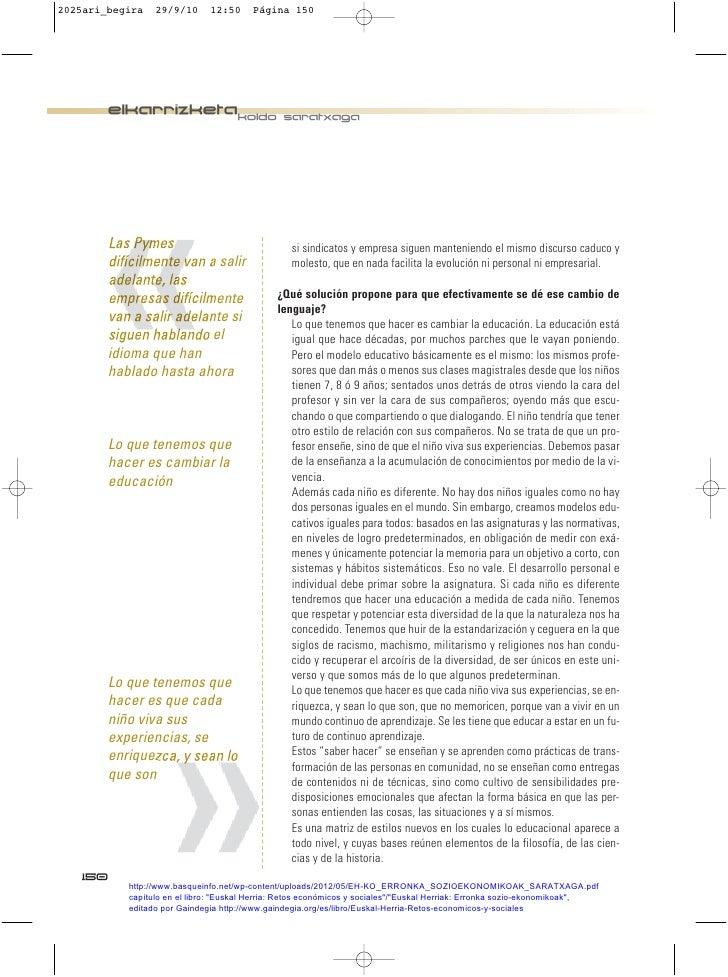 2025ari_begira   29/9/10      12:50     Página 150         elkarrizketakoldo saratxaga        Las Pymes                   ...