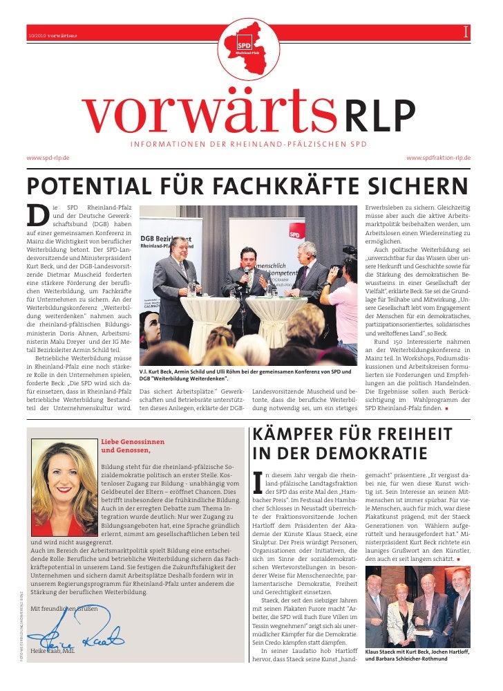 10/2010   vorwärtsRLP                                             RHEINLAND-PFALZ                                         ...