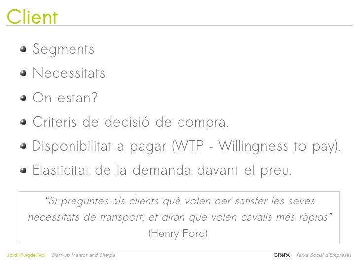 Client           Segments           Necessitats           On estan?           Criteris de decisió de compra.           Dis...