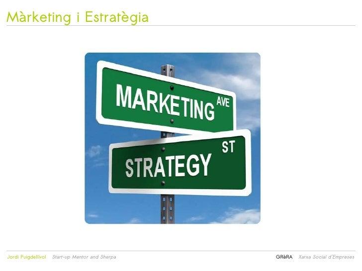 Màrketing i Estratègia                                                 Jordi Puigdellívol   Start-up Mentor and Sherpa  ...