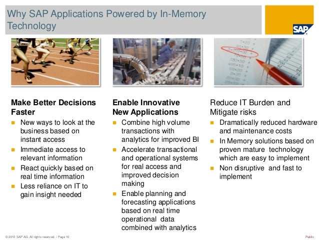 © 2010 SAP AG. All rights reserved. / Page 10 Public Why SAP Applications Powered by In-Memory Technology Make Better Deci...