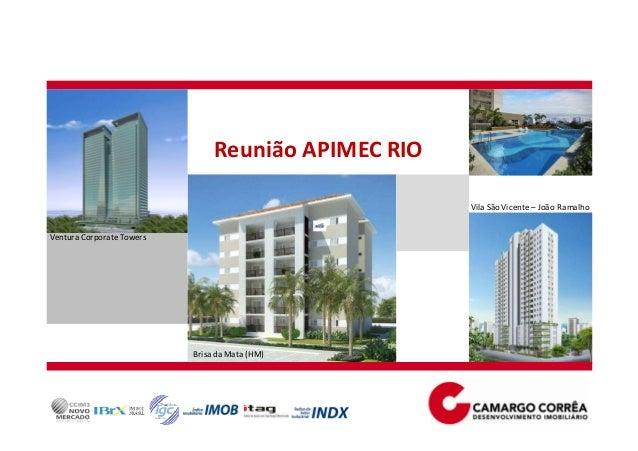 Reunião APIMEC RIO Ventura Corporate Towers Brisa da Mata (HM) Vila São Vicente – João Ramalho