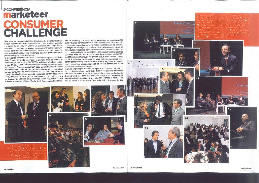 2010 11 11 Consumer Challenge Luis Madureira @ Marketeer