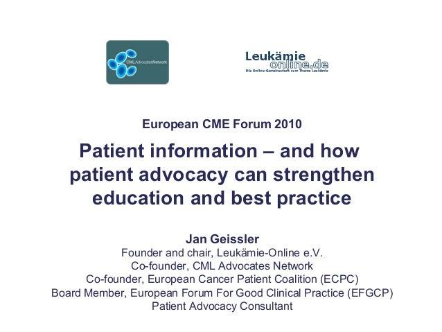 "1 (change footnote using Menu ""View > Change headline/footnote"")ECPC SUSTAINING PARTNER MEETING 2007 European CME Forum 20..."