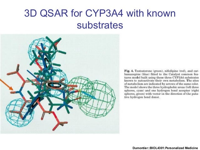 Dumontier::BIOL4301:Personalized Medicine 3D QSAR for CYP3A4 with known substrates