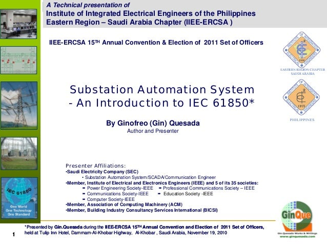Substation Automation System - An Introduction to IEC 61850A Technical presentation of Institute of Integrated Electrical ...