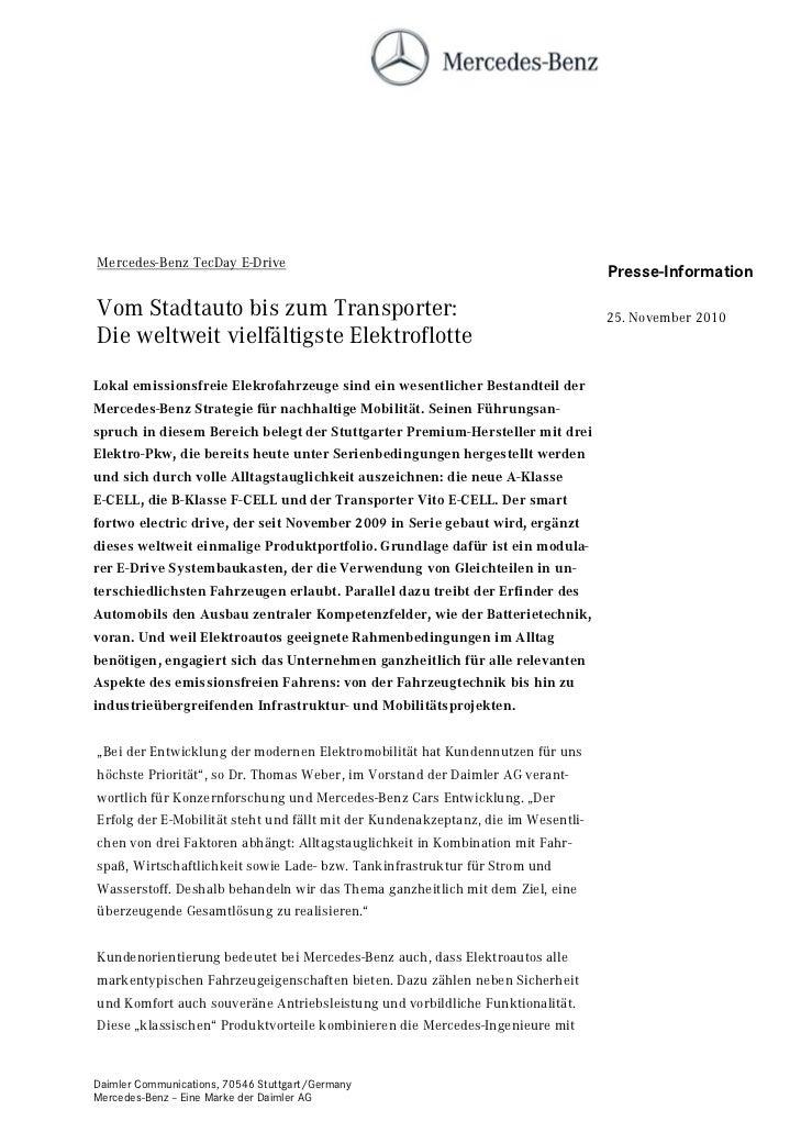 Mercedes-Benz TecDay E-Drive                                                                                   Presse-Info...