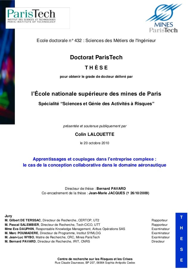 Ecole doctorale n° 432 : Sciences des Métiers de lIngénieur                                       Doctorat ParisTech      ...
