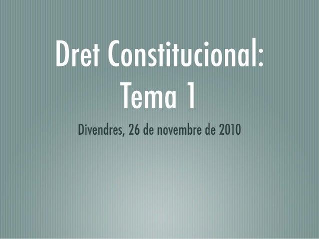 Cos superior i Cos de gestió GenCat - Constitucional Tema 1
