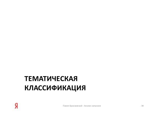 ТЕМАТИЧЕСКАЯ КЛАССИФИКАЦИЯ ПавелБраславский‐ Анализзапросов 34