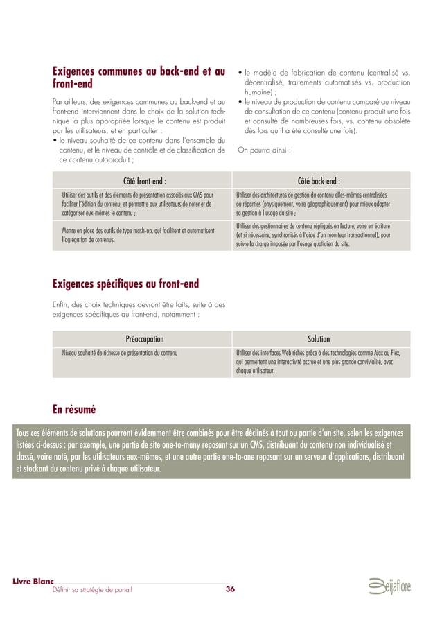 2010 Stratégie de Portail by Beijaflore