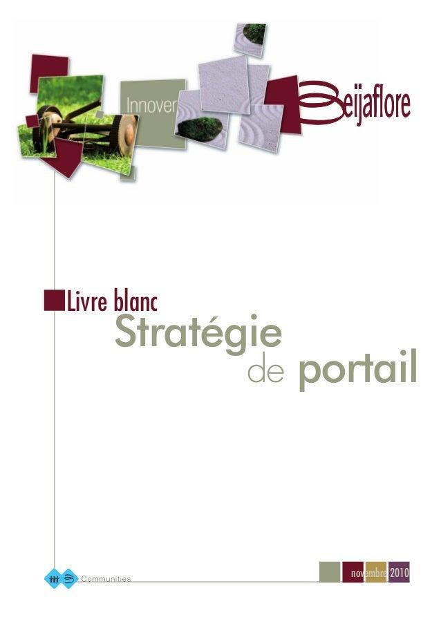 novembre 2010 de portail Stratégie Livre blanc