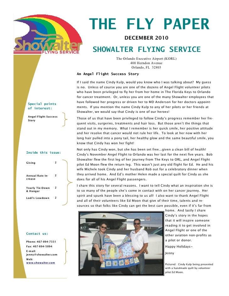 December Newsletter 2010