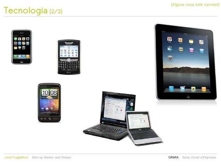 [Alguna cosa està canviant]Tecnologia (2/3)                                                 Jordi Puigdellívol   Start-u...