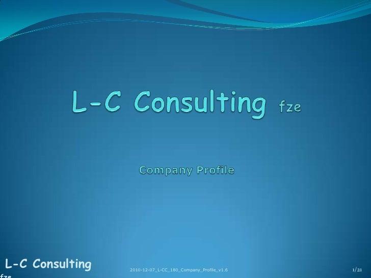 L-C Consulting fzeCompany Profile<br />