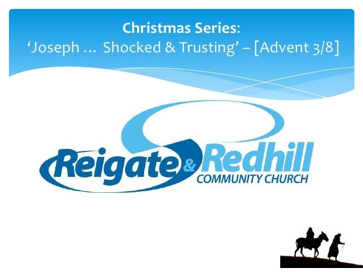 "Christmas Series:<br /> 'Joseph … Shocked & Trusting' – [Advent 3/8]<br />""Important Question"" John 5:1-15SERIES: 'JOHN' [..."