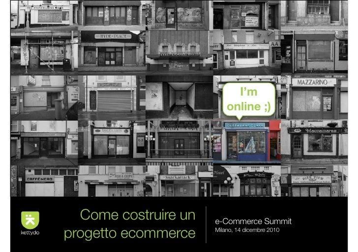 come costruire un progetto e commerce