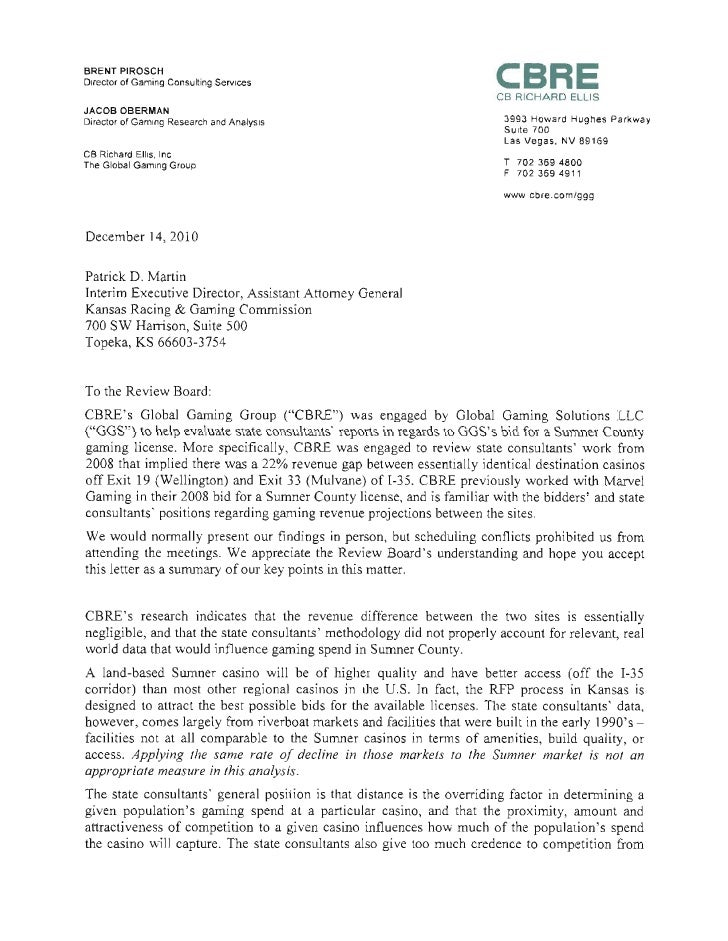 cbre letter to review board