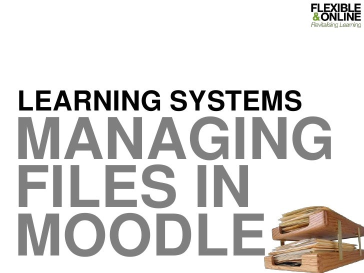 Learning Systems<br />Managing FILES IN MOODLE<br />