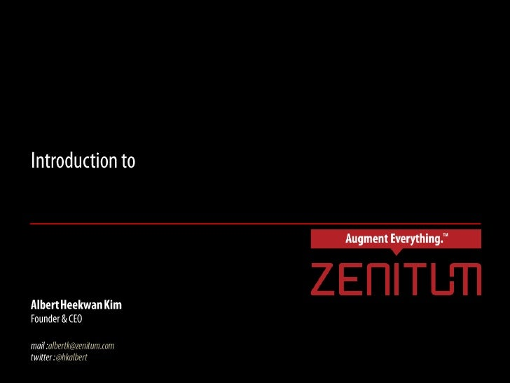 Introduction to Zenitum's Vision based Mobile Augmented Reality Technology