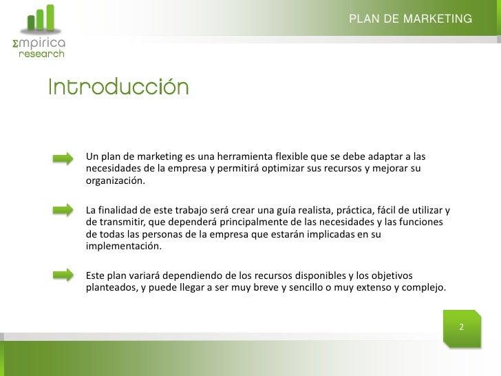 Guía para elaborar un Plan de Marketing Slide 2