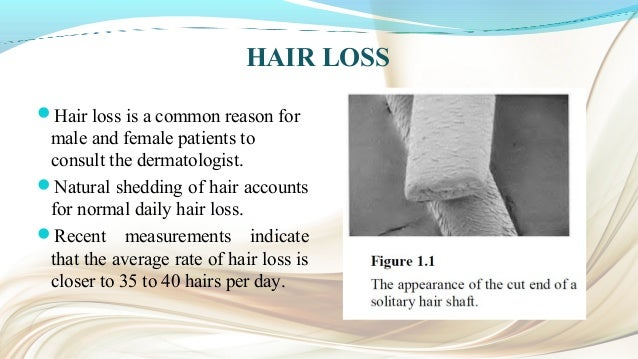MEDICAL CAUSES OF ALOPECIA • Physical stress: surgery, illness, anemia, lack of sleep. • Emotional stress: psychiatric ill...
