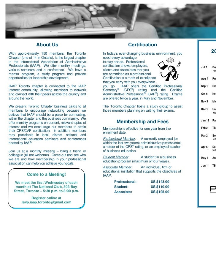 Iaap Membership 2010 2011 Brochurepdf