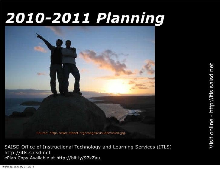 2010-2011 Planning                                                                                       Visit online - ht...