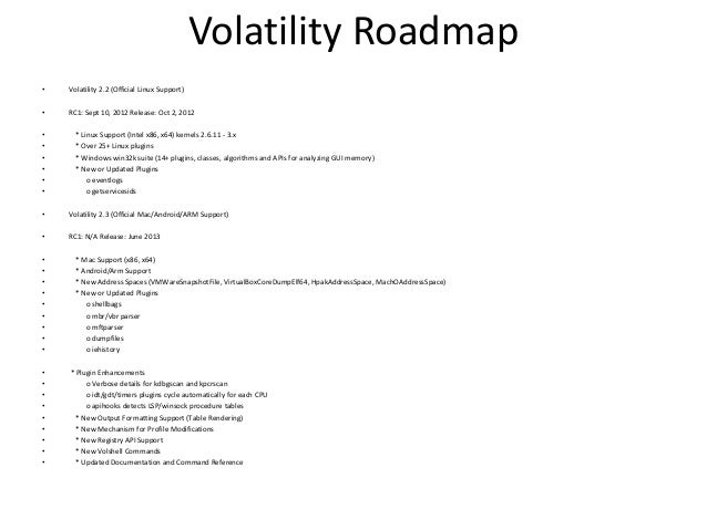 Volatility stable / Internal Commands