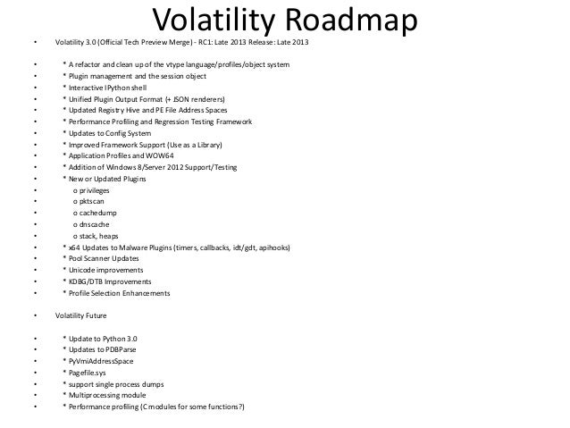 Volatility Plugins