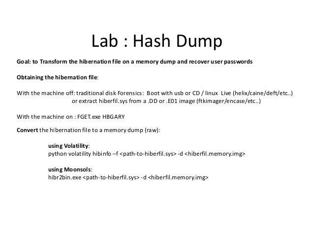 Lab – Finding the registry hives in memory (Volatility Hivescan) root@SIFT-Workstation:/media/usb# /usr/bin/python /usr/lo...