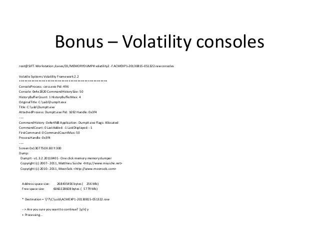 Bonus - MacOSX RootKit $ volatility-2.3 -f Mac OS X 10.7 64-bit-800c275a.vmem --profile=MacLion_10_7_5_AMDx64 mac_psxview ...