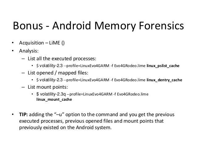 Bonus - Linux RootKit $ volatility_2.2 -f centos-6.3-x86_64-LiveDVD-avgcoder.mem --profile=LinuxCentOS63x64 linux_find_fil...