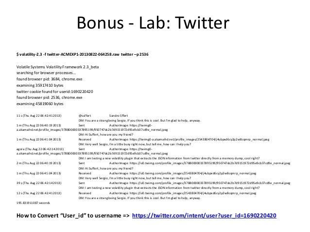 Bonus - Volatility: volshell.py • http://kurtz.cs.wesleyan.edu/~bdolangavitt/memory/omfw-notes.txt