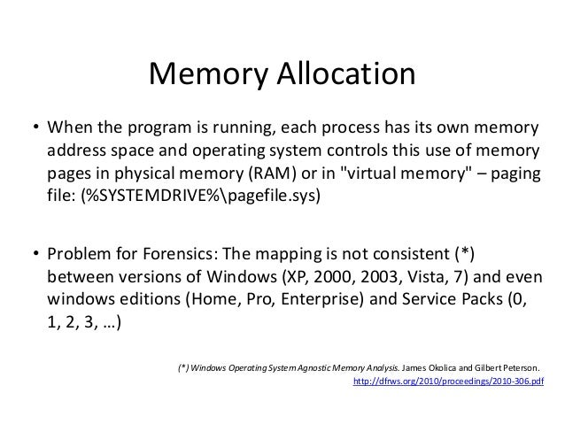 Memory Allocation • When the program is running, each process has its own memory address space and operating system contro...