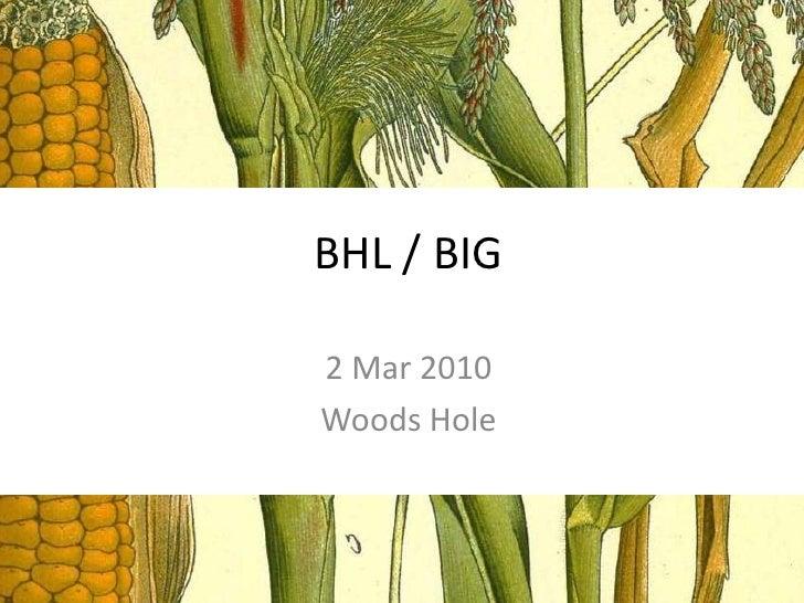 BHL / BIG <br />2 Mar 2010<br />Woods Hole<br />