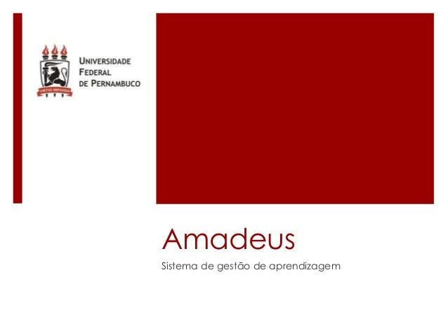 Amadeus Sistema de gestão de aprendizagem