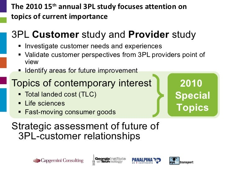 2010 Third-Party Logistics: Results and Findings of the 15th Annual Study Slide 2