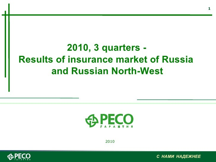 2010, 3 quarters -  Results of insurance market of Russia  and Russian North-West 2010