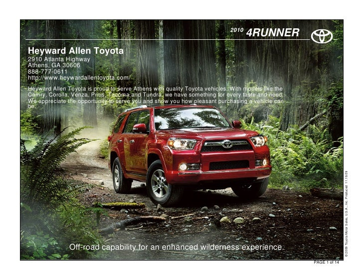 2010                                                                                   4RUNNER Heyward Allen Toyota 2910 A...