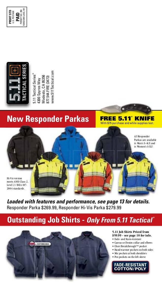 5 11 tactical men's responder hi vis parka