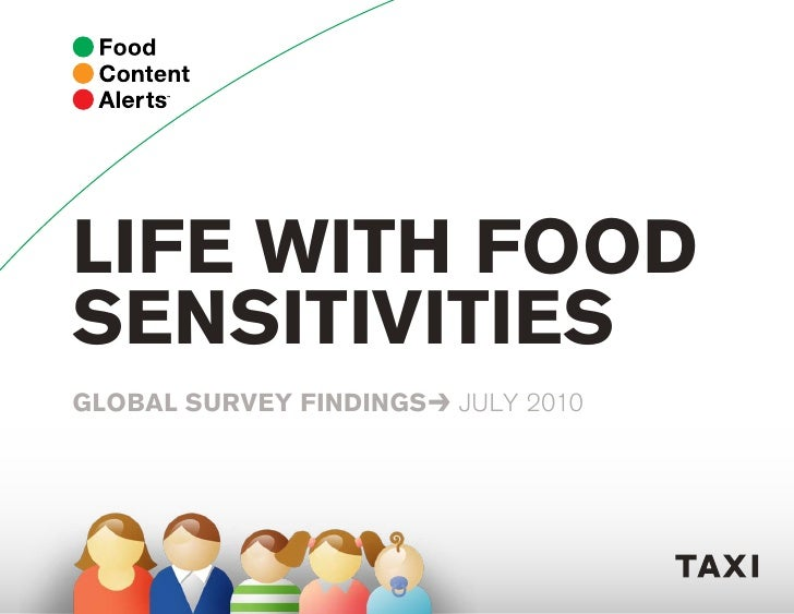 LIFE WITH FOOD SENSITIVITIES GLOBAL SURVEY FINDINGS≥ JULY 2010