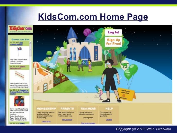 KidsCom.com Home Page