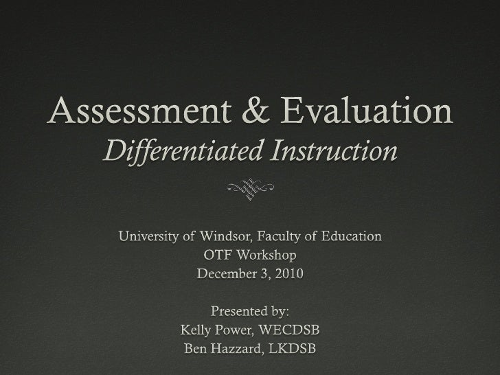 Assessment          FOR        LearningAssessment    Assessment    AS           OF Learning      Learning