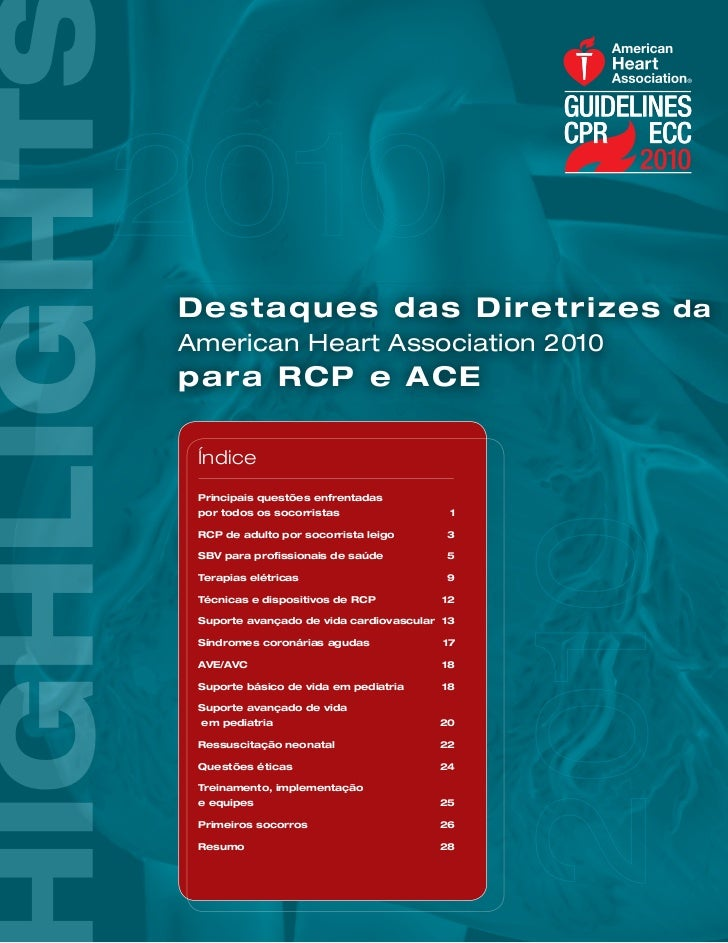 Destaques das Diretrizes da American Heart Association 2010