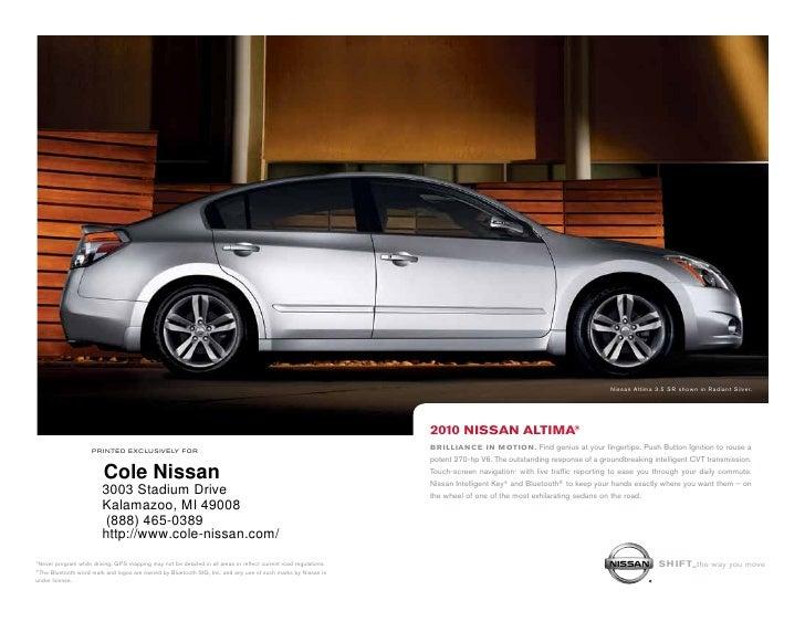 2010 Nissan Altima Cole Nissan Kalamazoo Mi