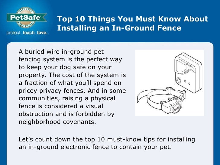 Top 10 Things You Must Know About Installing an In-Ground Fence A buried wire in-ground pet fencing system is the perfect ...